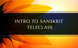 Intro to Sanskrit Teleclass