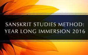 Sanskrit Immersion 2016